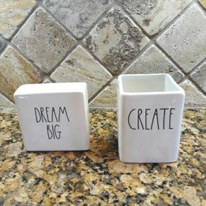 NIB Rae Dunn CREATE holder & DREAM BIG Sign
